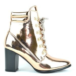 Chase + Chloe Rose Gold Ava Bootie